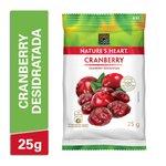 Snack Natures Heart Cranberry Desidratada 25g