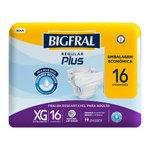 Fralda Adulto Descartável Bigfral Regular Plus Xg 16 Unidades