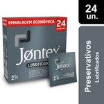 Preservativo Jontex Lubrificado Com 24 Unidades