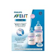 Kit Mamadeiras Anti-colic 125 E 260ml Rosa