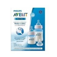 Kit Mamadeiras Anti-colic 125 E 260ml Azul