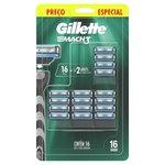 Carga Para Aparelho De Barbear Gillette Mach3 Regular Com 16 Unidades