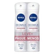 Kit Desodorante Aerosol Nivea Deomilk Sensitive Leve Mais Pague Menos 2 Unidades 150ml Cada