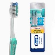 Escova Dental Oral-b Indicator Extra Soft + Fio Dental Com 2 Unidades