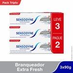 Creme Dental Sensodyne Branqueador Extra Fresh 90g Leve 3 Pague 2