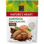 Amêndoa Com Chocolate Amargo 50% Cacau Natures Heart 50g