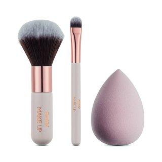Kit Panvel Make Up Com 2 Mini Pincéis + Esponja