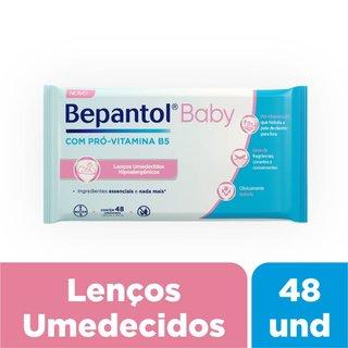 Lenços Umedecidos Hipoalergênicos Bepantol Baby Com 48 Unidades