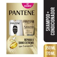 Kit Pantene Hidro-cauterização Shampoo 350ml + Condicionador 3 Minutos Milagrosos 170ml