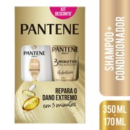 Kit Pantene Hidratacao Shampoo 350ml + Condicionador 3 Minutos Milagrosos 170ml