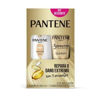 Kit Pantene Hidratação Shampoo 350ml + Condicionador 3 Minutos Milagrosos 170ml