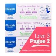 Creme Vitaminado Preventivo De Assaduras Mustela 123 110g Kit Leve 3 Pague 2
