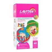 Lavitan Kids Tutti-frutti 60 Comprimidos Mastigáveis