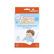 Compressa Refrescante Para Alívio De Febre Babydeas Fever Friends Com 4 Unidades