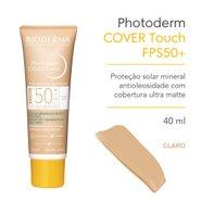 Protetor Solar Bioderma Photoderm Cover Touch Fps50+ Pele Clara 40g