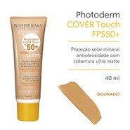 Protetor Solar Bioderma Photoderm Cover Touch Fps50+ Pele Morena 40g
