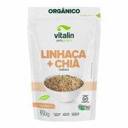 Farinha Organica Vegana Vitalin Linhaca Dourada E Chia 150g