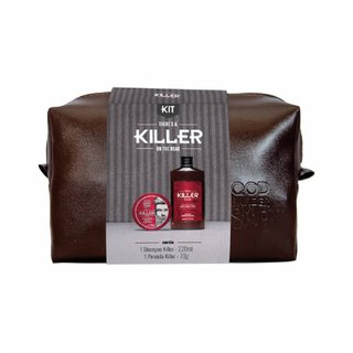 Kit Qod Barber Shop Killer Shampoo 220ml + Pomada 70g Grátis Necessaire