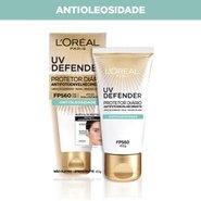 Protetor Solar Facial L'oréal Uv Defender Antioleosidade Fps 60 40g