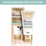 Protetor Solar Facial L'oréal Uv Defender Antifotoenvelhecimento Cor Clara Fps60 40g