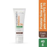 Protetor Solar Facial Neostrata Minesol Oil Control Fps 70 Pele Negra 40g