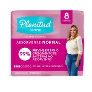 Absorvente Para Incontinencia Plenitud Femme Normal Com 8 Unidades