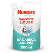 Sabonete Líquido Huggies Extra Suave Refil 200ml