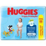 Fralda Huggies Tripla Proteção Hiper  Xxg Com 66 Unidades