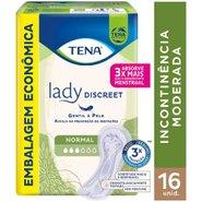 Absorvente Para Incontinência Urinária Tena Lady Discreet Normal Com 16 Unidades
