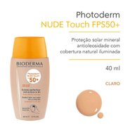 Protetor Solar Photoderm Nude Touch Claro Fps 50 40ml