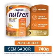 Complemento Alimentar Nutren Senior Sem Sabor Zero Lactose 740g