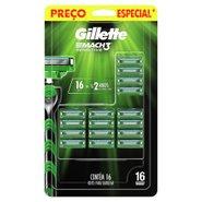 Carga Para Aparelho De Barbear Gillette Mach3 Sensitive Com 16 Unidades