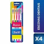 Escovas Dentais Oral-b Indicator Color Collection Com 4 Unidades