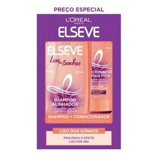 Kit Elseve Liso Dos Sonhos Shampoo 375ml + Condicionador 170ml
