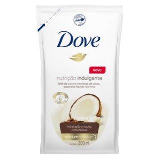 Sabonete Liquido Dove Nutricao Indulgente Leite De Coco E Manteiga De Cacau Refil 200 Ml
