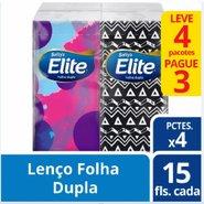 Lenco Papel Elite Folha Dupla 15 Folhas De Bolso Leve 4 Pague 3