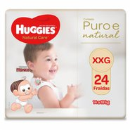 Fralda Huggies Puro E Natural Mega Xxg Com 24 Unidades