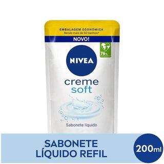 Sabonete Liquido Nivea Creme Soft Refil 200 Ml