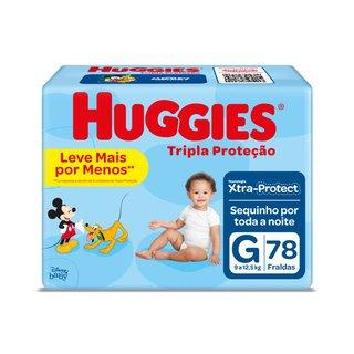 Fralda Huggies Tripla Proteção Hiper G Com 78 Unidades
