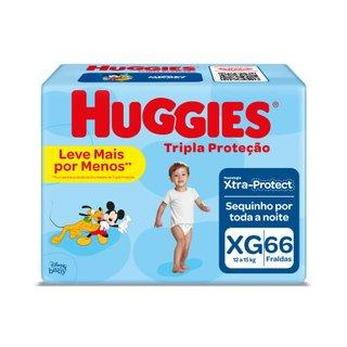 Fralda Huggies Tripla Proteção Hiper Xg Com 66 Unidades