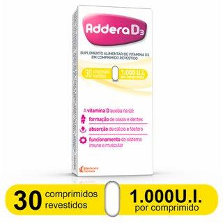 Addera D3 1000ui Com 30 Comprimidos Revestidos