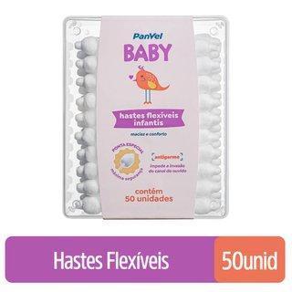 Hastes Flexíveis Panvel Baby Com 50 Unidades