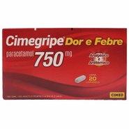 Cimegripe Dor E Febre Paracetamol 750 Mg 2 Blísters X10 Comprimidos