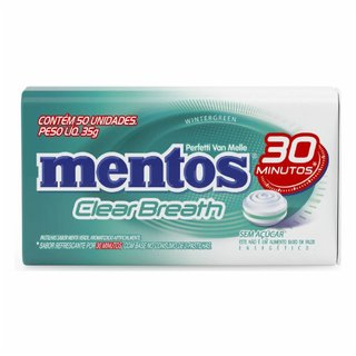 Pastilha Mentos Clear Breath Wintergreen 35g