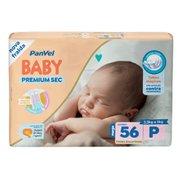 Fralda Panvel Baby Premium Sec P Com 56 Unidades
