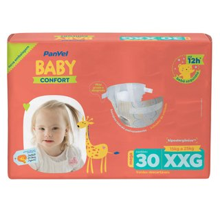 Fralda Panvel Baby Mega Xxg Com 30 Unidades