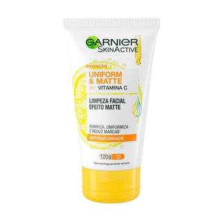 Gel De Limpeza Facial Garnier Skinactive Uniform & Matte 120g