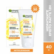 Hidratante Facial Garnier Skinactive Uniform & Matte Vitamina C Fps 30 40g