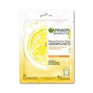 Máscara Facial Garnier Skinactive Uniform & Matte Vitamina C 28g