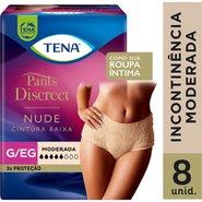 Roupa Intima Feminina Tena Pants Discreet Nude G/Eg Com 8 Uninades